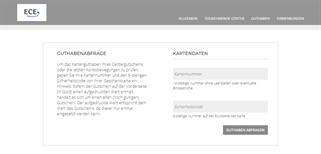 Marktplatz-Center Neubrandenburg gift card balance check