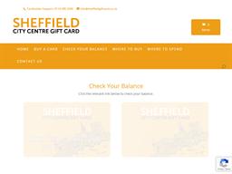 Sheffield City Centre gift card balance check