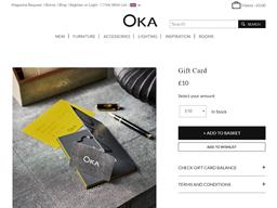 OKA gift card purchase