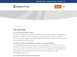 Bankers Trust gift card purchase