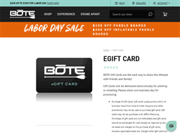 BOTE gift card purchase