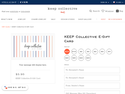 Keep Collective gift card purchase