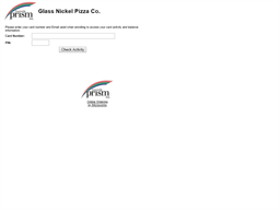 Glass Nickel Pizza Co gift card balance check
