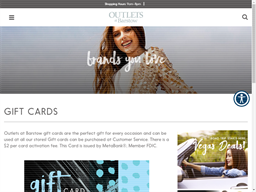 Outlets at Barstow gift card purchase