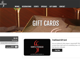Simply Fondue Livermore gift card purchase