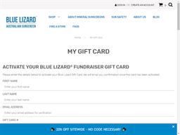 Blue Lizard Sunscreen gift card purchase