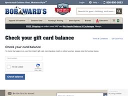 Bob Ward's gift card purchase