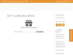 Greystone Prime Steakhouse & Seafood gift card balance check