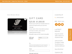 Greystone Prime Steakhouse & Seafood gift card purchase