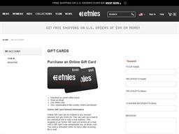 etnies.com gift card balance check