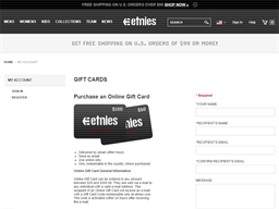 etnies.com gift card purchase