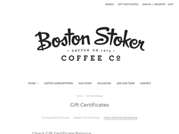Boston Stoker Coffee Co. gift card balance check