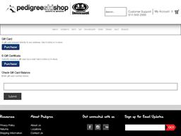 Pedigree Ski Shop gift card balance check