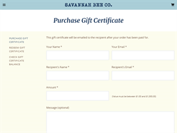 Savannah Bee Company gift card purchase