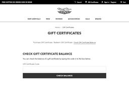 Straight Down gift card balance check