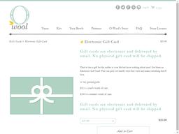 O-Wool gift card purchase