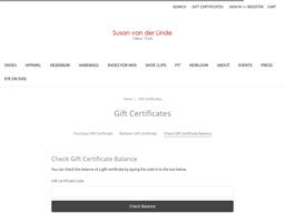 Susan van der Linde gift card balance check