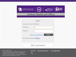 University of Wisconsin-Whitewater HawkCard gift card balance check