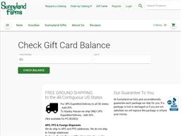 Sunnyland Farms gift card balance check