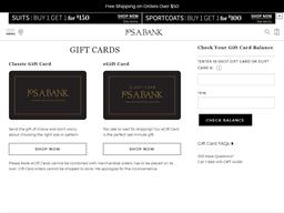 Joseph A Bank gift card purchase