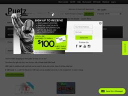 Puetz Golf Superstores gift card purchase