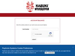 Kabuki gift card balance check