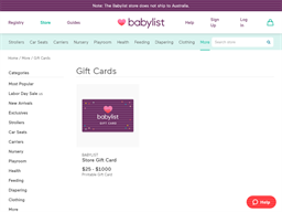 Babylist gift card purchase