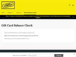 Brantford Surplus gift card purchase