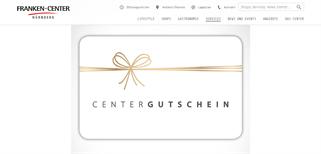 Franken-Center Nürnberg gift card purchase