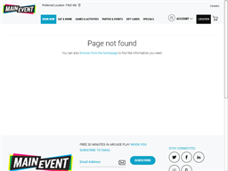 Main Event Entertainment gift card balance check