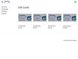 Sheridan Fruit Co. gift card purchase