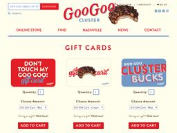 Goo Goo Cluster gift card purchase
