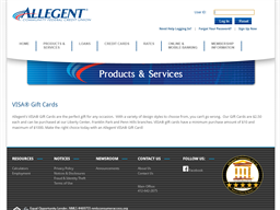 Allegent Community Federal Credit Union gift card purchase