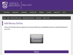 UCA University of Central Arkansas gift card balance check