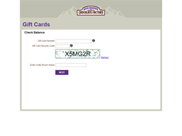 Rocky Mountain Chocolate Factory gift card balance check