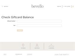 Bevello gift card balance check