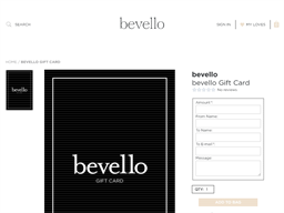 Bevello gift card purchase