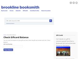 Brookline Booksmith gift card balance check