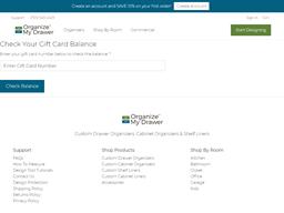 Organize My Drawer gift card balance check