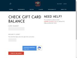 PCC Community Markets gift card balance check