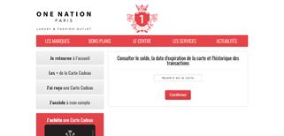 One Nation Paris gift card balance check