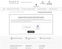 Maty gift card balance check
