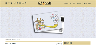 Gstaad gift card purchase