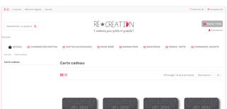 Ré Création gift card purchase