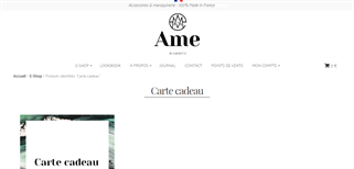 Ame Biarritz gift card purchase