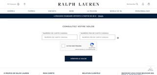 Ralph Lauren gift card balance check