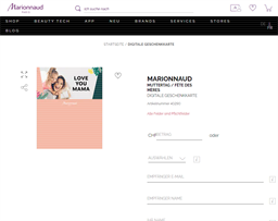 Marionnaud gift card purchase