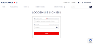 Air France Schweiz gift card balance check