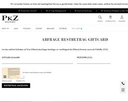 PKZ gift card balance check