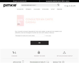 Pimkie gift card balance check